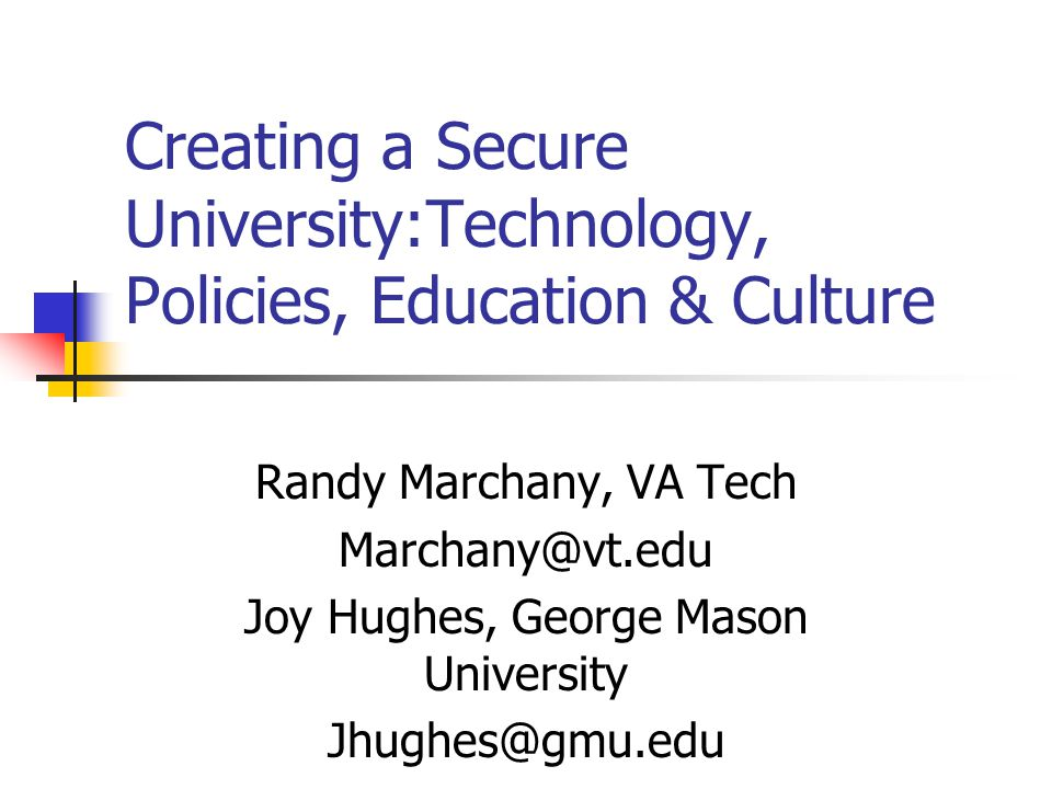 Educause MARC, 2003 Copyright 2002, Marchany 52 Protecting the System Get the VTNET software CD, it's FREE.