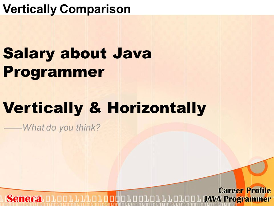 Salary about Java Programmer ——What do you think? Vertically & Horizontally Vertically Comparison