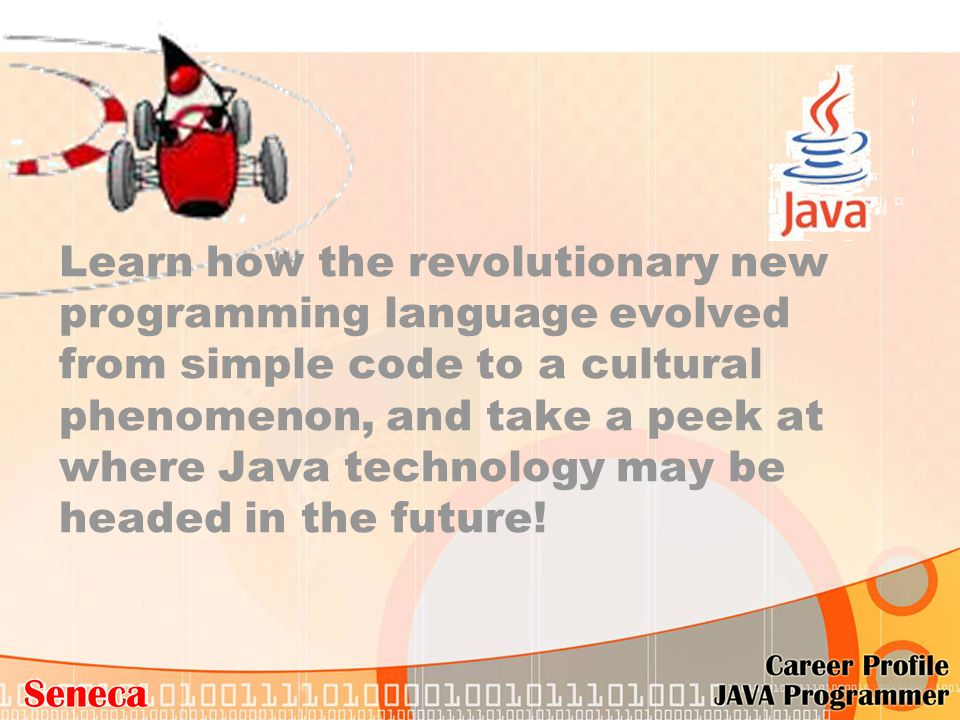 Learn how the revolutionary new programming language evolved from simple code to a cultural phenomenon, and take a peek at where Java technology may b