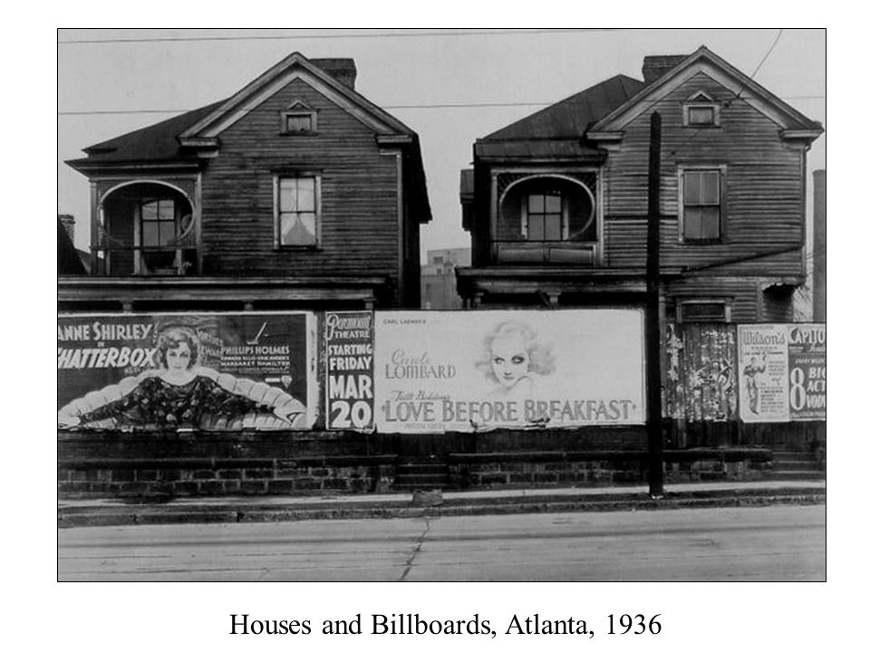 Houses and Billboards, Atlanta, 1936