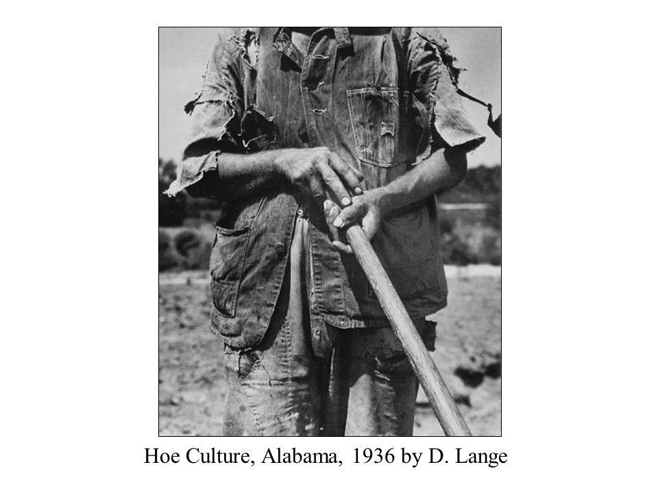 Hoe Culture, Alabama, 1936 by D. Lange