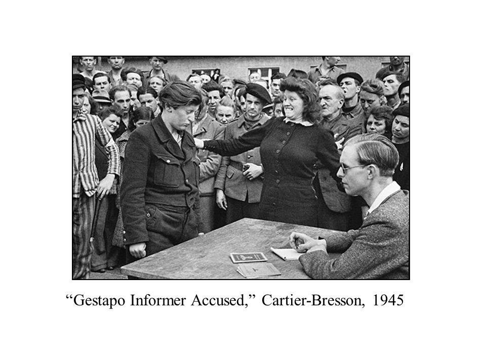 """Gestapo Informer Accused,"" Cartier-Bresson, 1945"