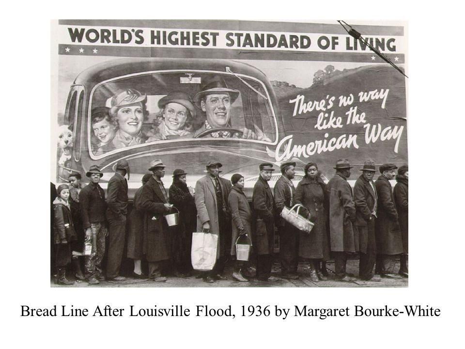 Bread Line After Louisville Flood, 1936 by Margaret Bourke-White