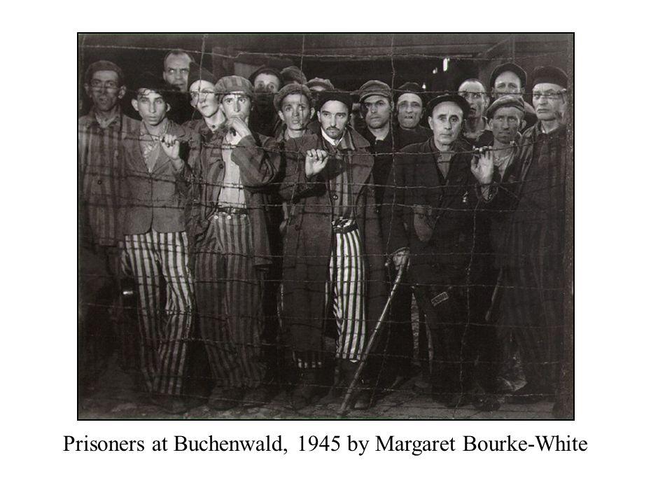 Prisoners at Buchenwald, 1945 by Margaret Bourke-White