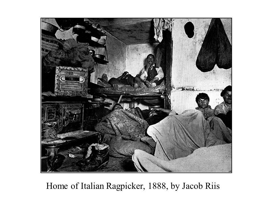 Home of Italian Ragpicker, 1888, by Jacob Riis