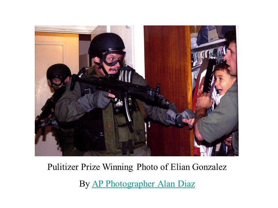 Pulitizer Prize Winning Photo of Elian Gonzalez By AP Photographer Alan DiazAP Photographer Alan Diaz
