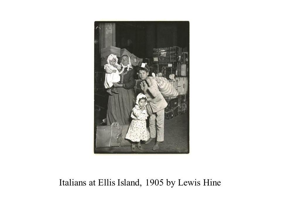 Italians at Ellis Island, 1905 by Lewis Hine