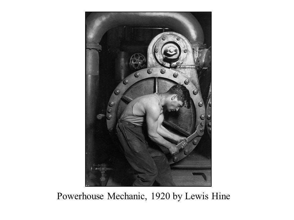 Powerhouse Mechanic, 1920 by Lewis Hine