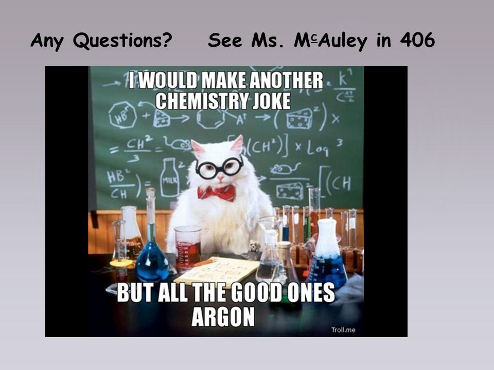 Any Questions See Ms. M c Auley in 406