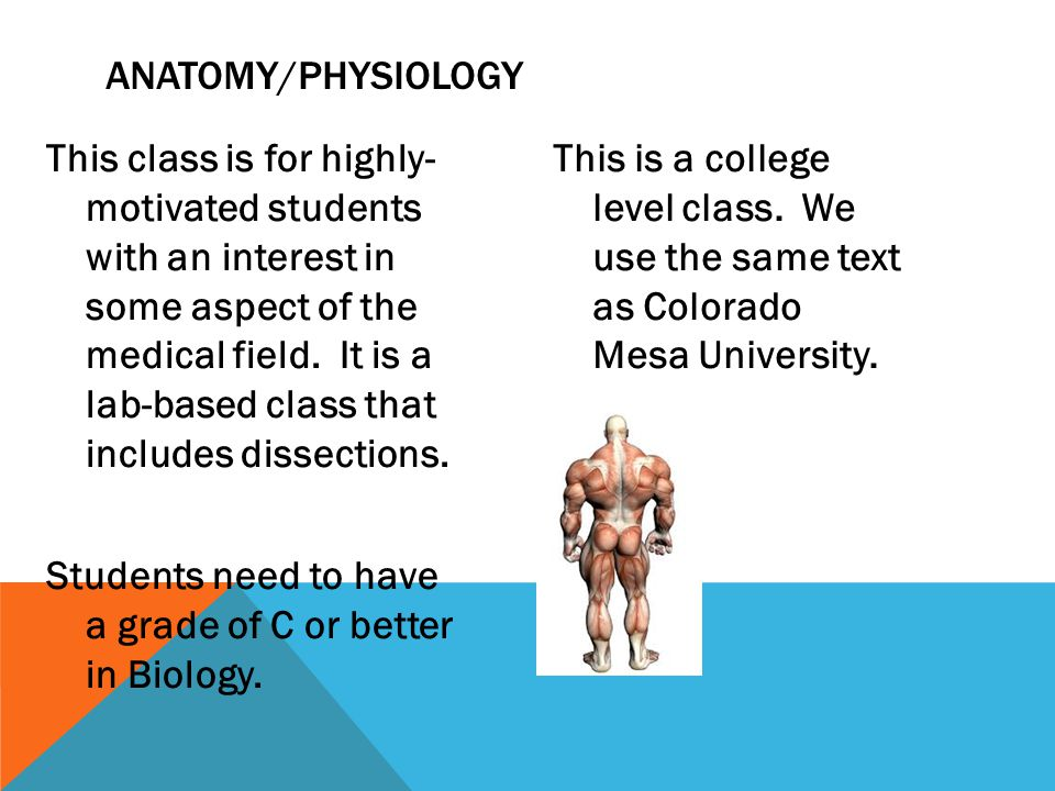 This class is for highly- motivated students with an interest in some aspect of the medical field.