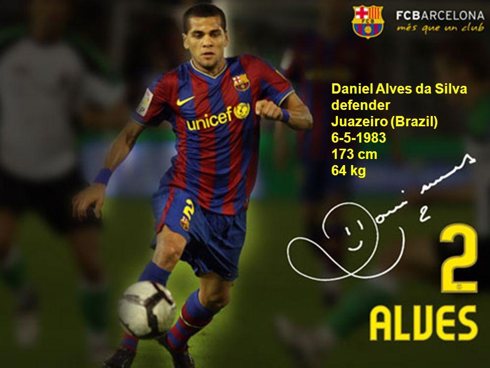 Daniel Alves da Silva defender Juazeiro (Brazil) 6-5-1983 173 cm 64 kg