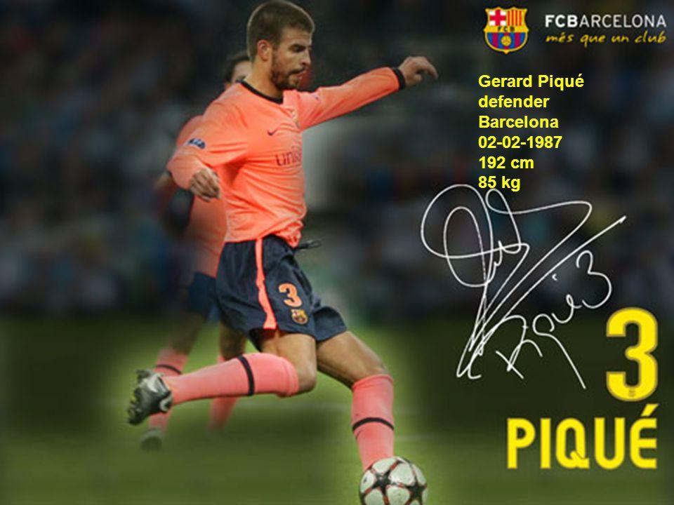 Gerard Piqué defender Barcelona 02-02-1987 192 cm 85 kg
