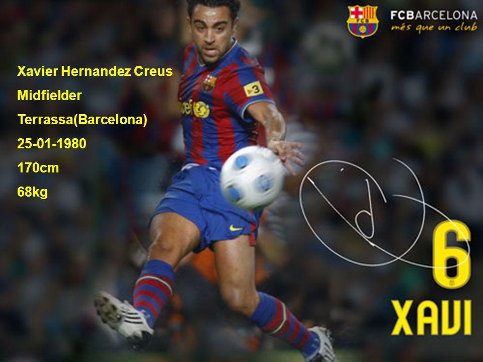 Xavier Hernandez Creus Midfielder Terrassa(Barcelona) 25-01-1980 170cm 68kg