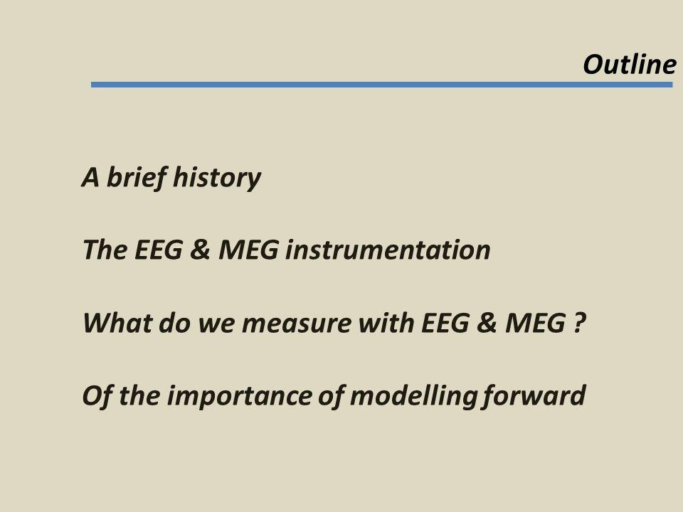 MEG essentially measures… noise.