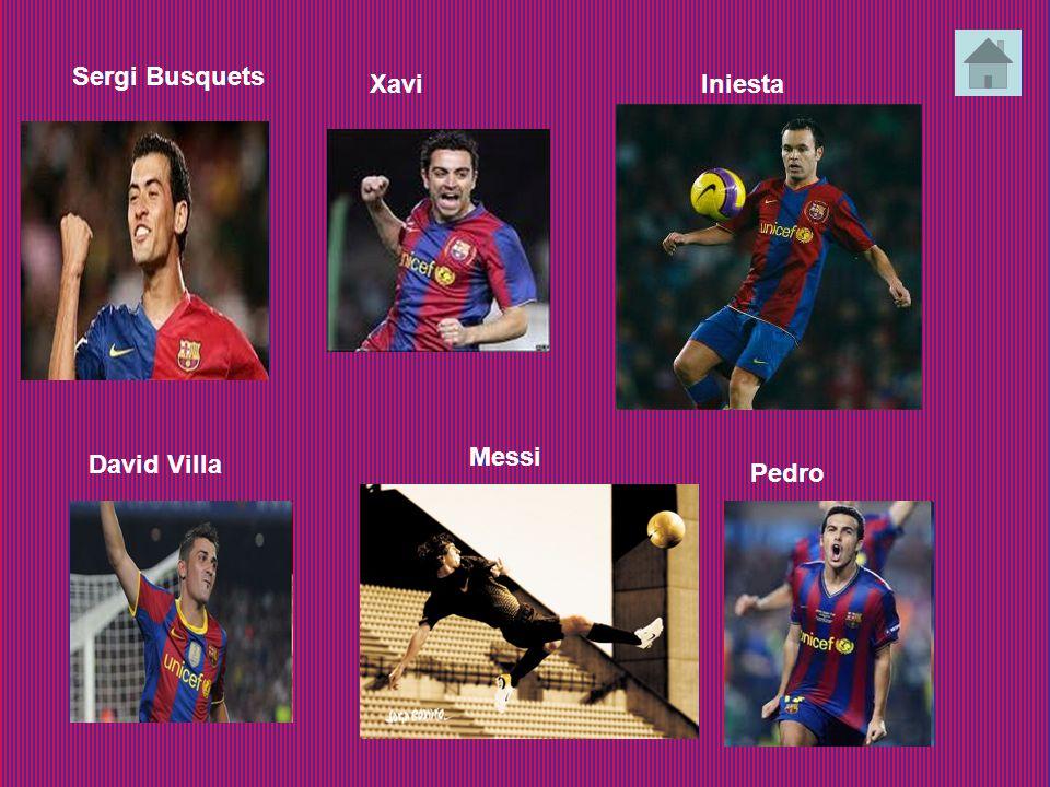 Sergi Busquets XaviIniesta David Villa Messi Pedro