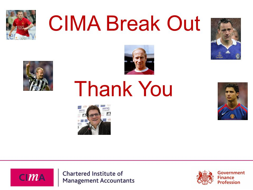 CIMA Break Out Thank You