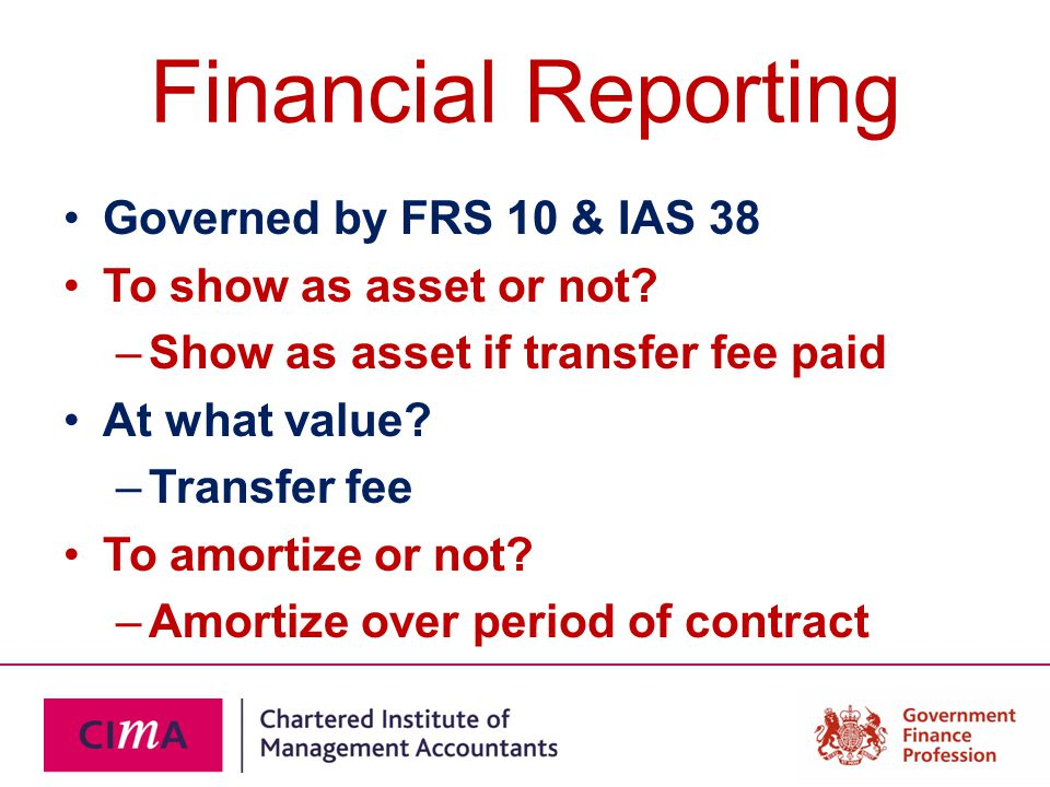 Financial Reporting Governed by FRS 10 & IAS 38 To show as asset or not.