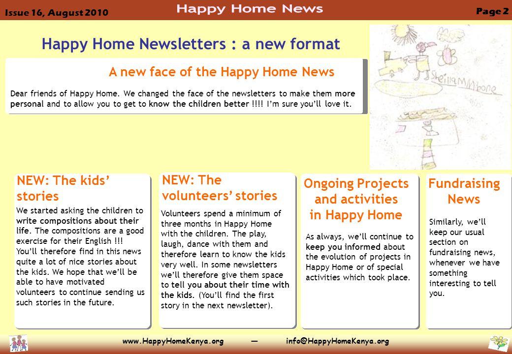 Dear friends of Happy Home.