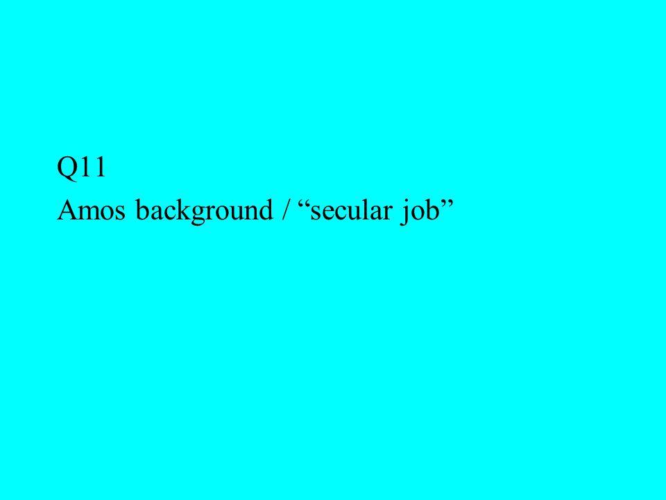 "Q11 Amos background / ""secular job"""