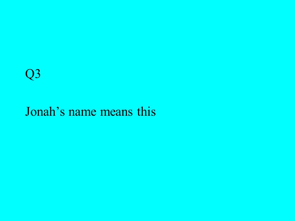 Q3 Jonah's name means this