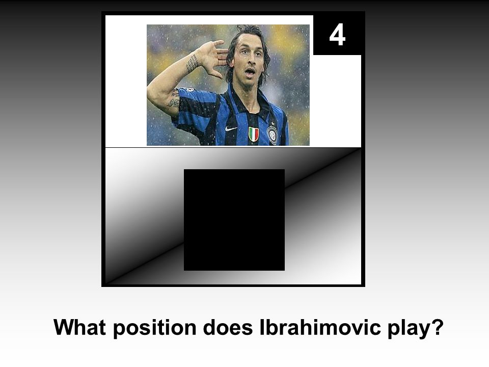 4 What position does Ibrahimovic play