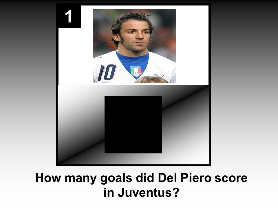 1 How many goals did Del Piero score in Juventus
