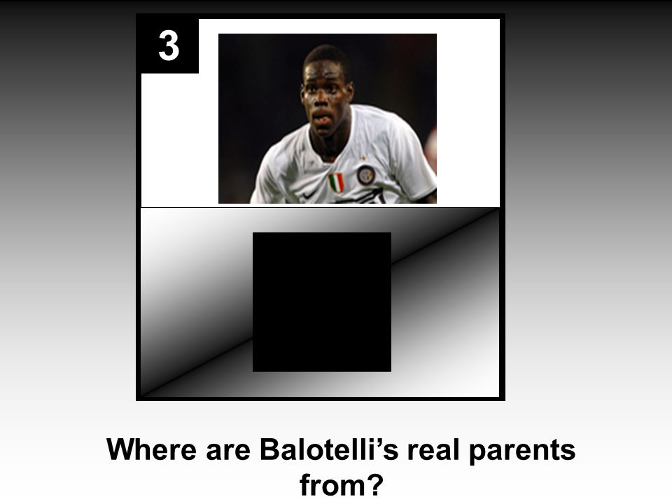 3 Where are Balotelli's real parents from