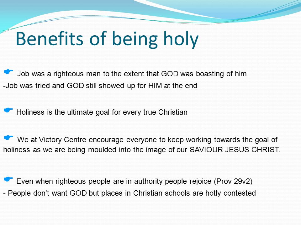 Working towards holiness (1) Don't be as profane as Esau i.e.