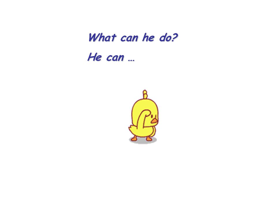 What can he do? He can …