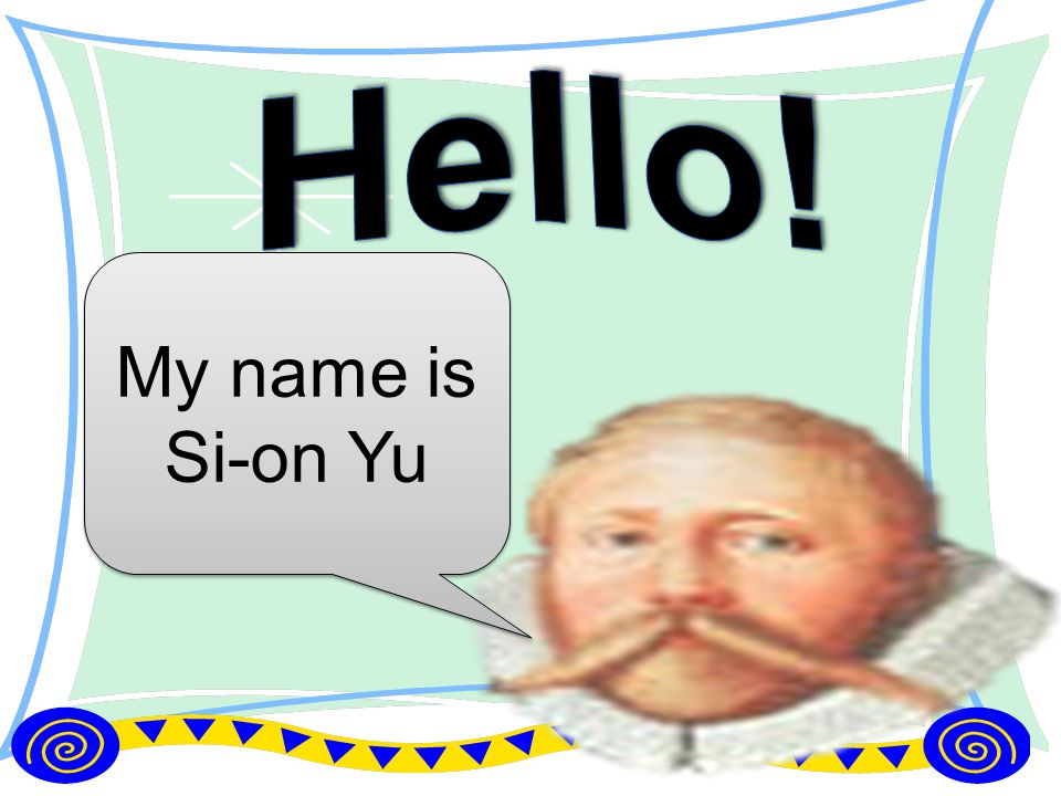 My name is Si-on Yu