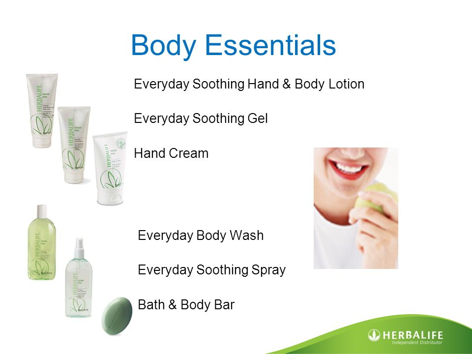 Body Essentials Everyday Soothing Hand & Body Lotion Everyday Soothing Gel Hand Cream Everyday Body Wash Everyday Soothing Spray Bath & Body Bar