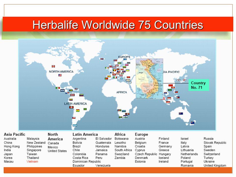 Herbalife Worldwide 75 Countries