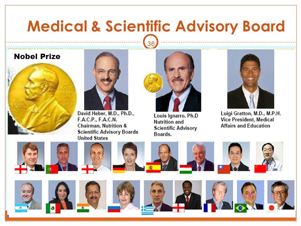 36 Nobel Prize Medical & Scientific Advisory Board