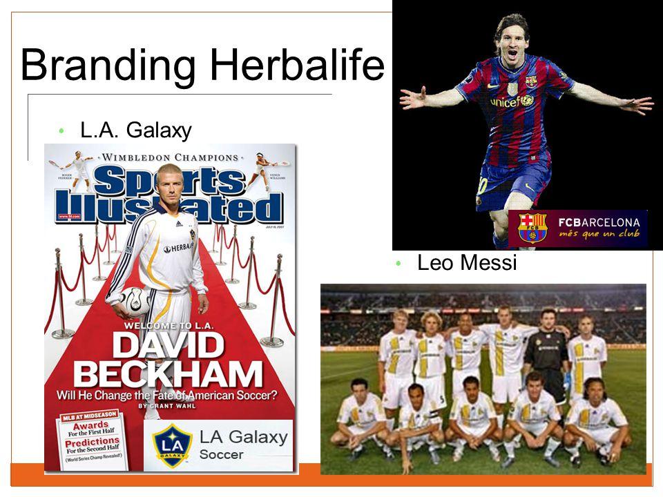 Branding Herbalife L.A. Galaxy Leo Messi