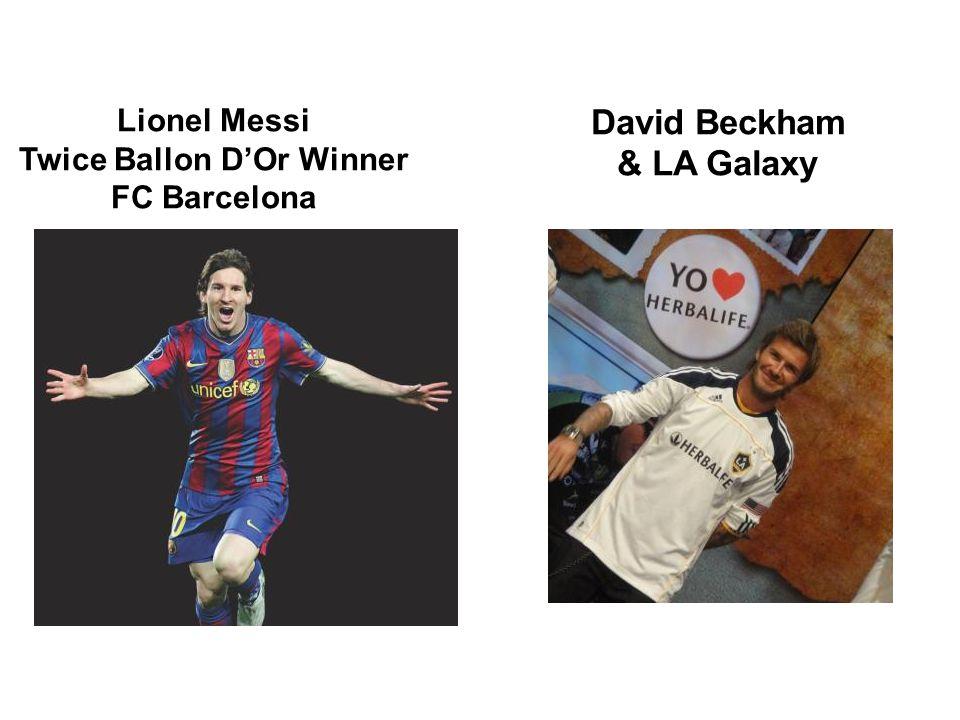 Lionel Messi Twice Ballon D'Or Winner FC Barcelona David Beckham & LA Galaxy