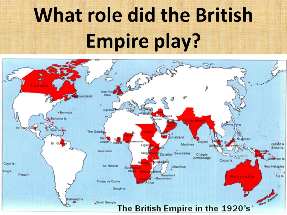 What role did the British Empire play?