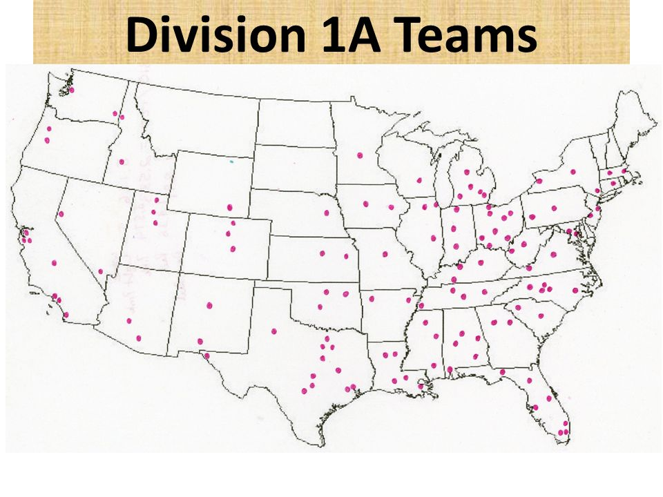 Division 1A Teams