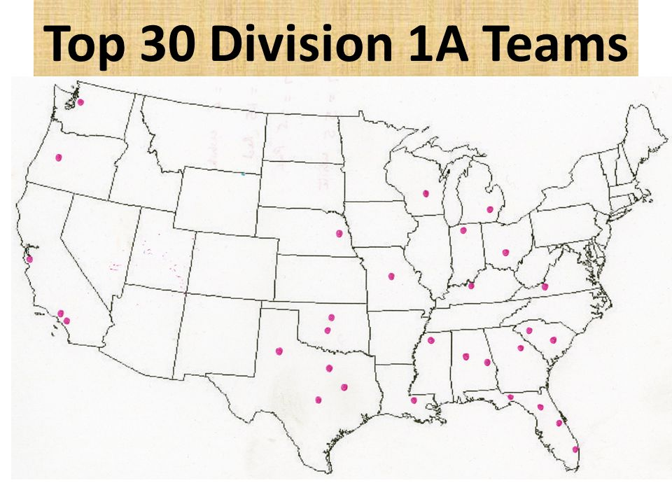 Top 30 Division 1A Teams