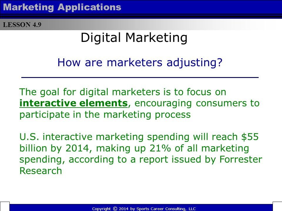LESSON 4.9 Marketing Applications Each team also owns an equal share in MLB Advanced Media, which, among other things, has generated massive revenue from its game-day video and audio app MLB At Bat, the highest grossing sports app in the Apple store on the iPhone and iPad for four consecutive years.