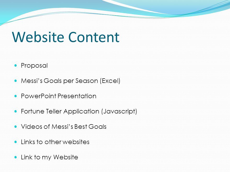 Lionel Messi's Website