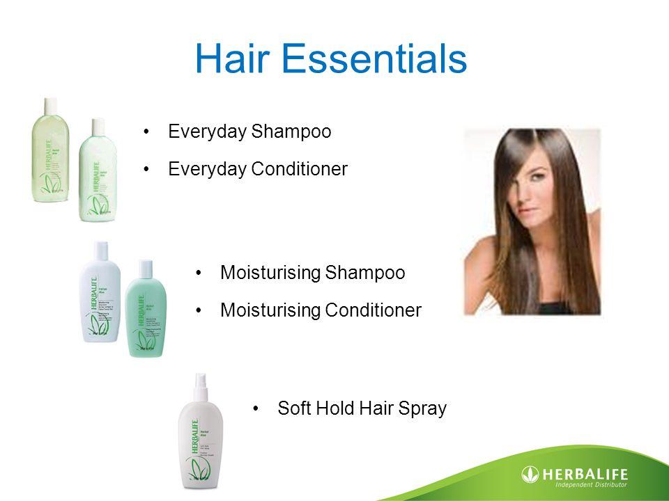 Hair Essentials Everyday Shampoo Everyday Conditioner Moisturising Shampoo Moisturising Conditioner Soft Hold Hair Spray