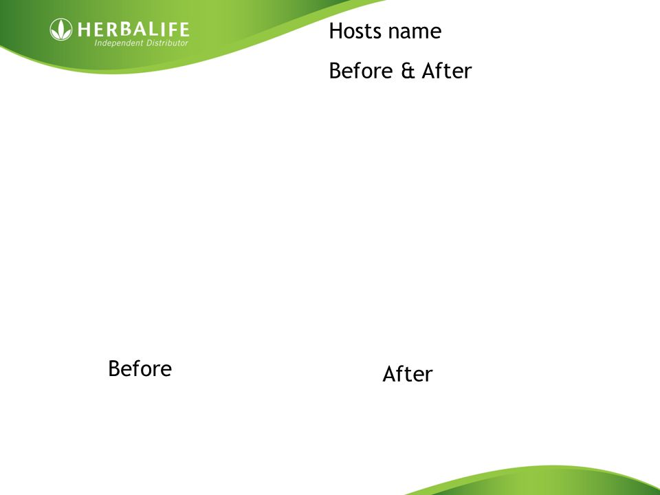 Hosts name Before & After Before After
