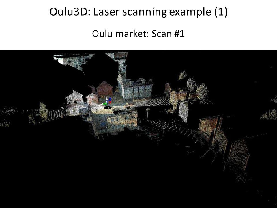 Oulu3D: Laser scanning example (1) Oulu market: Scan #1