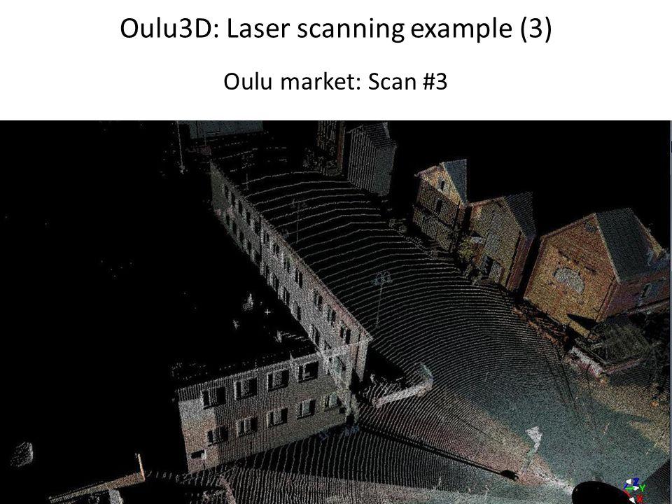 Oulu3D: Laser scanning example (3) Oulu market: Scan #3