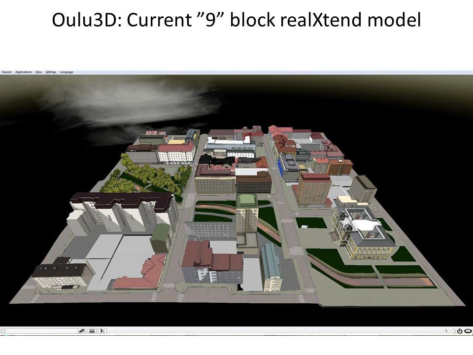 Oulu3D: Current 9 block realXtend model