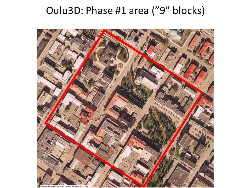 Oulu3D: Phase #1 area ( 9 blocks)