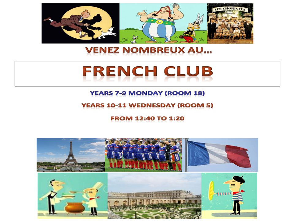 Come to French club – simples!