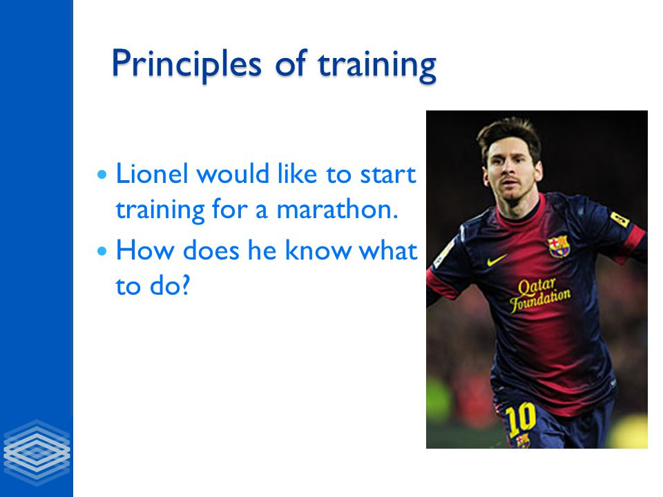 Basic principles of training A.5 F.I.T.T principle Frequency Intensity Time Type