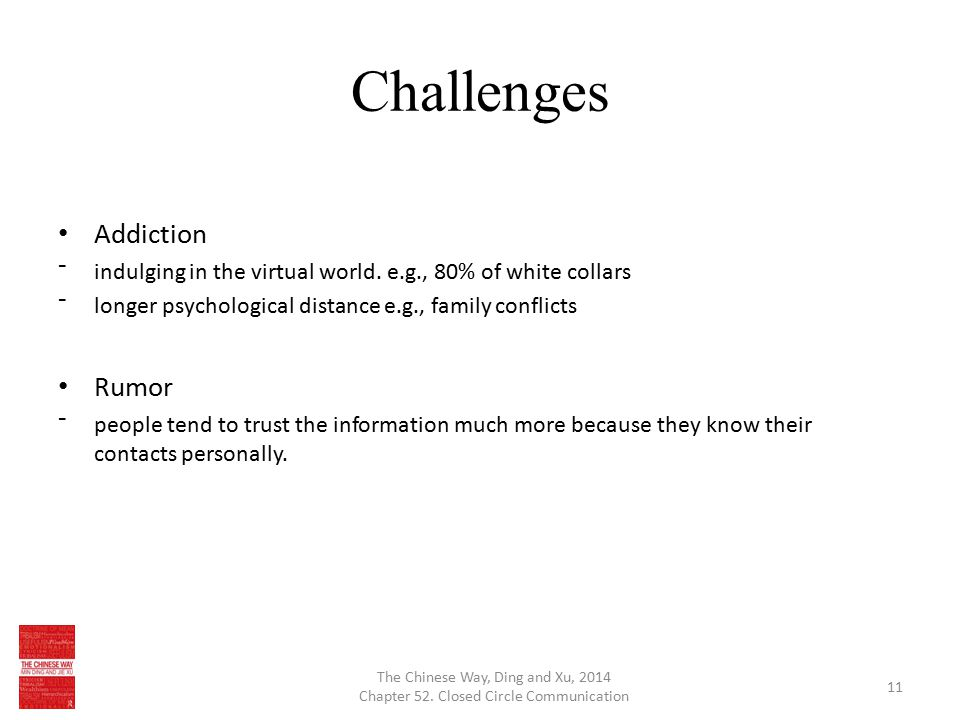 Challenges Addiction ⁻indulging in the virtual world.