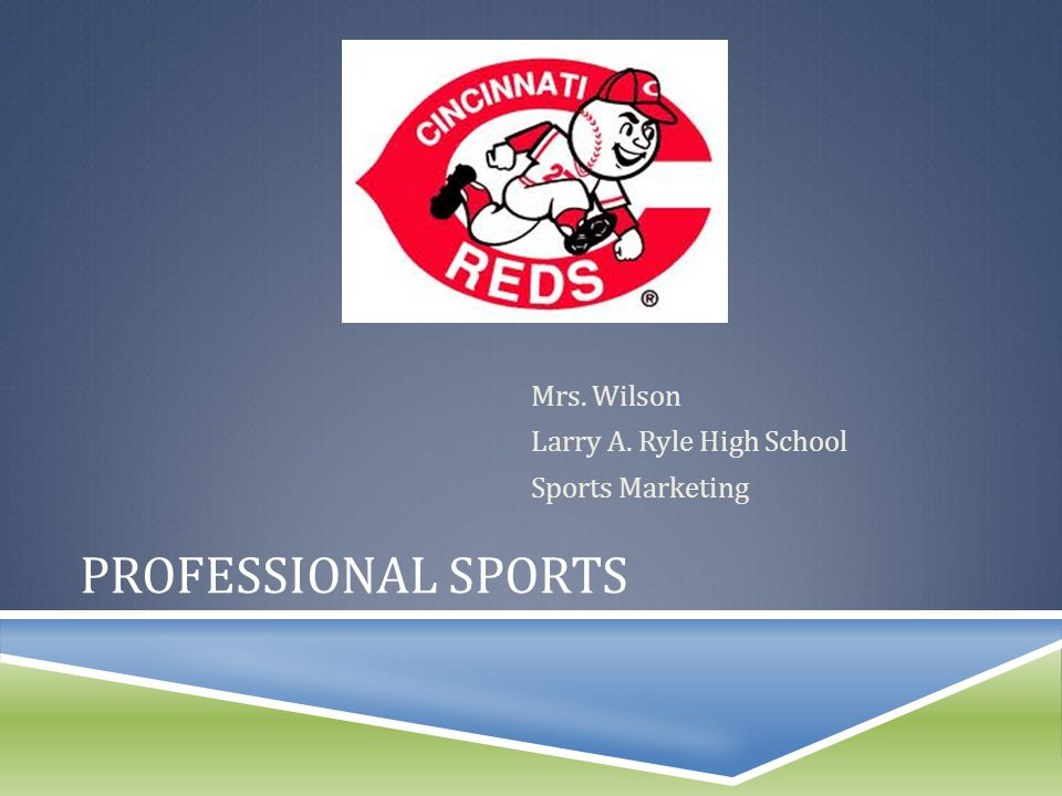 PROFESSIONAL SPORTS Mrs. Wilson Larry A. Ryle High School Sports Marketing
